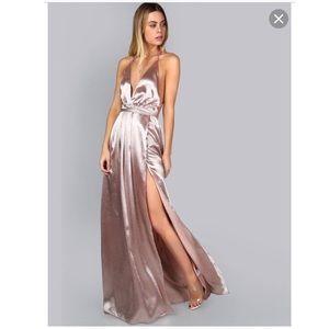 Silky black maxi dress/gown